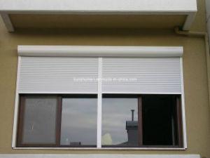 Amercian Style White Powder Coat Aluminium Roller Shutter Windows pictures & photos