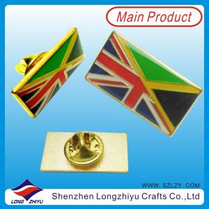 Enamel Gold Plated British Flag Epoxy Pin Badge pictures & photos
