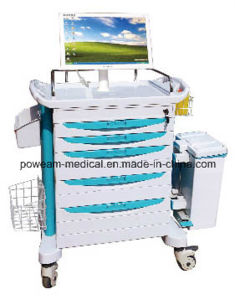 Medical Furniture Hospital Trolley Wireless Nursing Trolley (WNT-1) pictures & photos