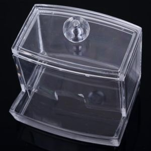 New Design Clear Acrylic Cotton Swab Storage Holder Box Cosmetic Makeup Case pictures & photos