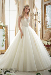 2016 New Hot-Selling Beading Bride A-Line Wedding Dress, Customized pictures & photos
