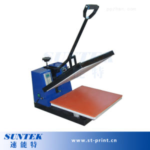 Manual Flatbed Heat Press Transfer Machine for Sublimation pictures & photos