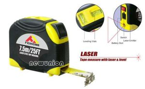 Tape Measure with Laser & Level