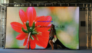 Portable Flexible LED Curtain With Light Weight and Easy Installation (FLC-1600) pictures & photos