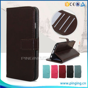 Pouch Leather Cell Phone Flip Case for Alcatel Onetouch Elevate 4037V pictures & photos