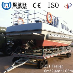 Double Axle Yacht Boat Trailer with Jocky Wheel pictures & photos