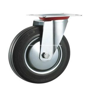 Industrial Black Rubber Swivel Wheel Caster