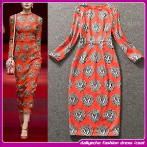 2015 European New Abstract Geometric Print Dress/Elastic Celebrity Dresses (C-164)