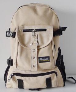 Arcuate Shouider Strap Solid Casual School Canvas Bag pictures & photos