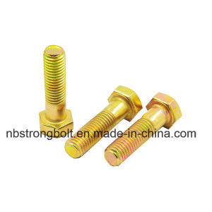 Hex Bolt DIN933/DIN931 Gr. 8.8 M10-1.50X100 Yellow Zinc Plated Cr6+ pictures & photos