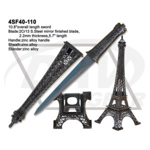 """14.4""""Overall S. Steel Mirror Finished Sword with Zinc Alloy Handle: 4sf41-145co pictures & photos"""