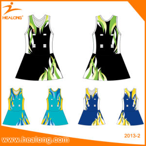 Team Set Sublimation Women Netball Bodysuit with Shorts Uniforms pictures & photos