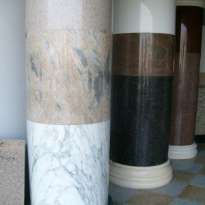 Hollow Natural Marble and Granite Cylinder Column Pillar pictures & photos