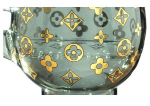 """8"""" Luck of The Irish Wine Glass with Oil Dome Nail and Dry Herb Bowl - Ash Black pictures & photos"""