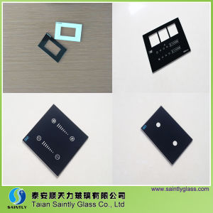 High Quality Tempered Switch panel Glass with Silk Screen Printing pictures & photos
