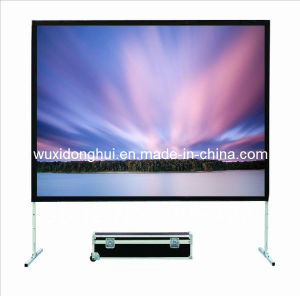 Customized Size From 100inch to 500inch Stage Fast Fold Screen, Rear Front Projection Screens (DHFFPS-045)
