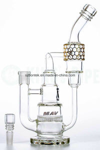 Honeycomb Cake Stack Recycler Glass Water Pipe Smoking Pipe pictures & photos