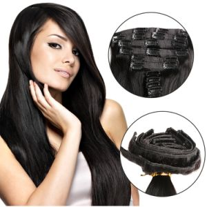 Full Head 7PCS Sets Brazilian Straight Hair Clip in Extensions, 100%Brazilian Remy Human Hair Extension pictures & photos