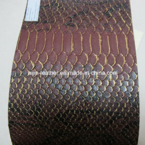 Fashion Snake Synthetic Leather for Furniture (ZY-35)