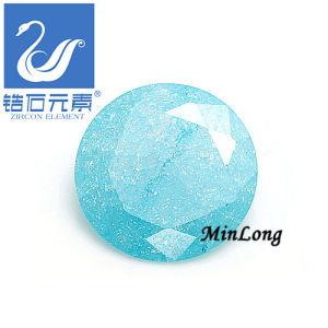 Round Cut Blue Color Cubic Zirconia Gemstone, Round Diamond Shape, Loose Stone (CZ-1145)