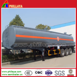 Tri-Axle 60m3 Fuel Transport Semi Tank Trailer Stainless Steel pictures & photos