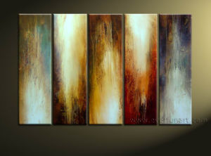 Home Decor Handmade Colorful Abstract Painting on Canvas (XD5-017) pictures & photos