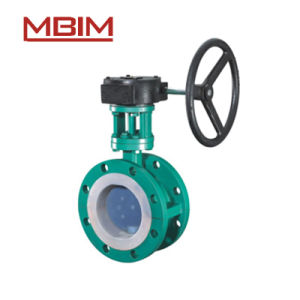 Teflon Lined Falange Type Butterfly Valve pictures & photos