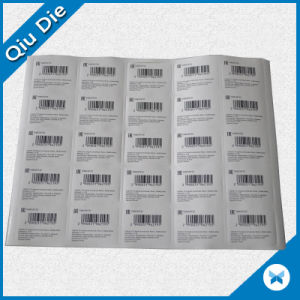 Self Adhesive Wholesale Garment Packaging Label with Barcode Printed pictures & photos