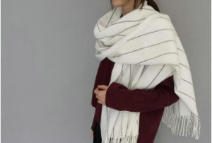 Solid Color Strips Cashmere Pashmina Blanket Scarf for Women and Men pictures & photos