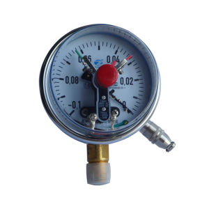 4inch-100mm Lower Entry Chrome Plate Case Electric Contact Radial Manometer pictures & photos