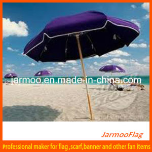 Custom Advertising Beach Sun Umbrella with Plain Color pictures & photos