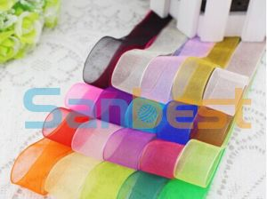 100% Colorful Nylon Single Face Satin Ribbon for Gift pictures & photos