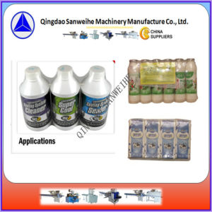 Swf-590 Swd-2000 Single Row Beverage Bottles Shrink Wrapping Machine pictures & photos