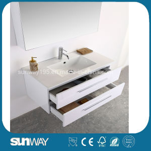 Hot Sale Europe Style Bathroom Vanity with Mirror Cabinet (SW-1307) pictures & photos