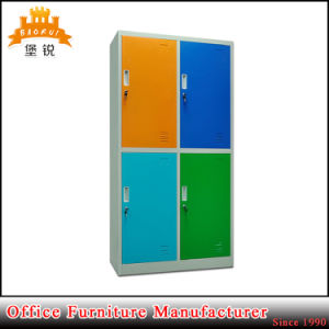 Colorful Metal 4 Door School Used Clothes Cabinet Locker Furniture for Sale pictures & photos