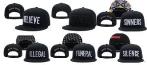 New Arrival Black Scale Brand Silence Snapbacks Caps Hats Believe Sinners Funeral Snapback Street Cap Hat Hip Hop Caps