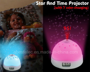 Star and Time Night Projection Alarm Clock