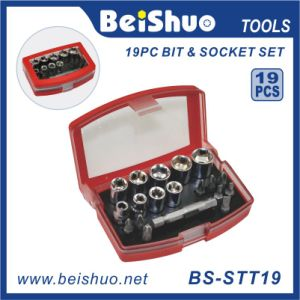 "Cheap Price 1/4"" 19PCS Hand Socket and Bit Socket Set pictures & photos"