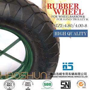 Pneumatic Wheelbarrow Barrow Rubber Wheel Tire Hand Tools 4.80/4.00-8 pictures & photos