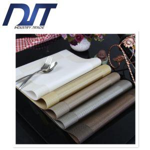 European Diagonal Frame Thermal Insulation Anti-Skid PVC Woven Placemat pictures & photos