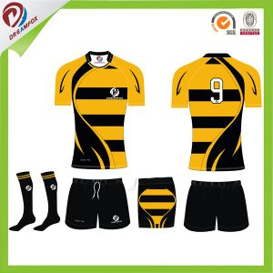 Wholesale OEM Sevice Custom Your Own 100 Polyester Rugby Jerseys Shorts Design pictures & photos