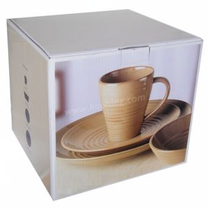 300GSM B Flute Durable Corrugated Square Box for Cup Packaging pictures & photos