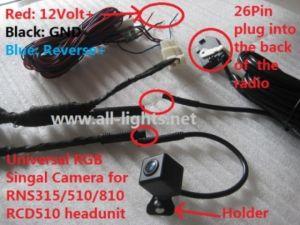 Car Volkswagen Vw Rearview Camera, Backup Camera for RNS310 RNS315 RNS510 RNS810 RCD510 GOLF PASSAT JETTA MAGOTON POLO PHAETON MK5 MK6