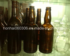 500ml Green and Amber Glass Beer Bottle pictures & photos