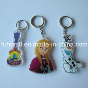 Personalized 2D / 3D Soft Rubber Keyring with Cartoon Figure pictures & photos
