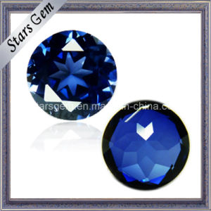 Good Cutting Round Sapphire Stone 34# Sapphire Color pictures & photos