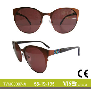 Handmade Sun Glasses Metal Sunglasses (97-B) pictures & photos