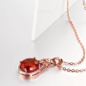 Euramerican Pop Elegant Rose Gold Necklace Drop Shape Zircon Necklace Jewelry pictures & photos