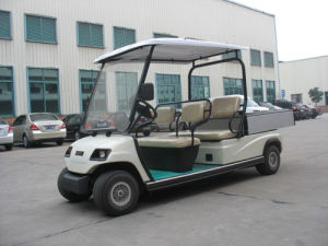 Wholesale 4 Seaters Electric Cargo Car pictures & photos