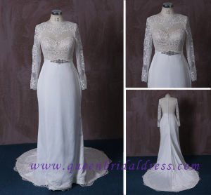 2015 Long Sleeve France Lace Wedding Dress
